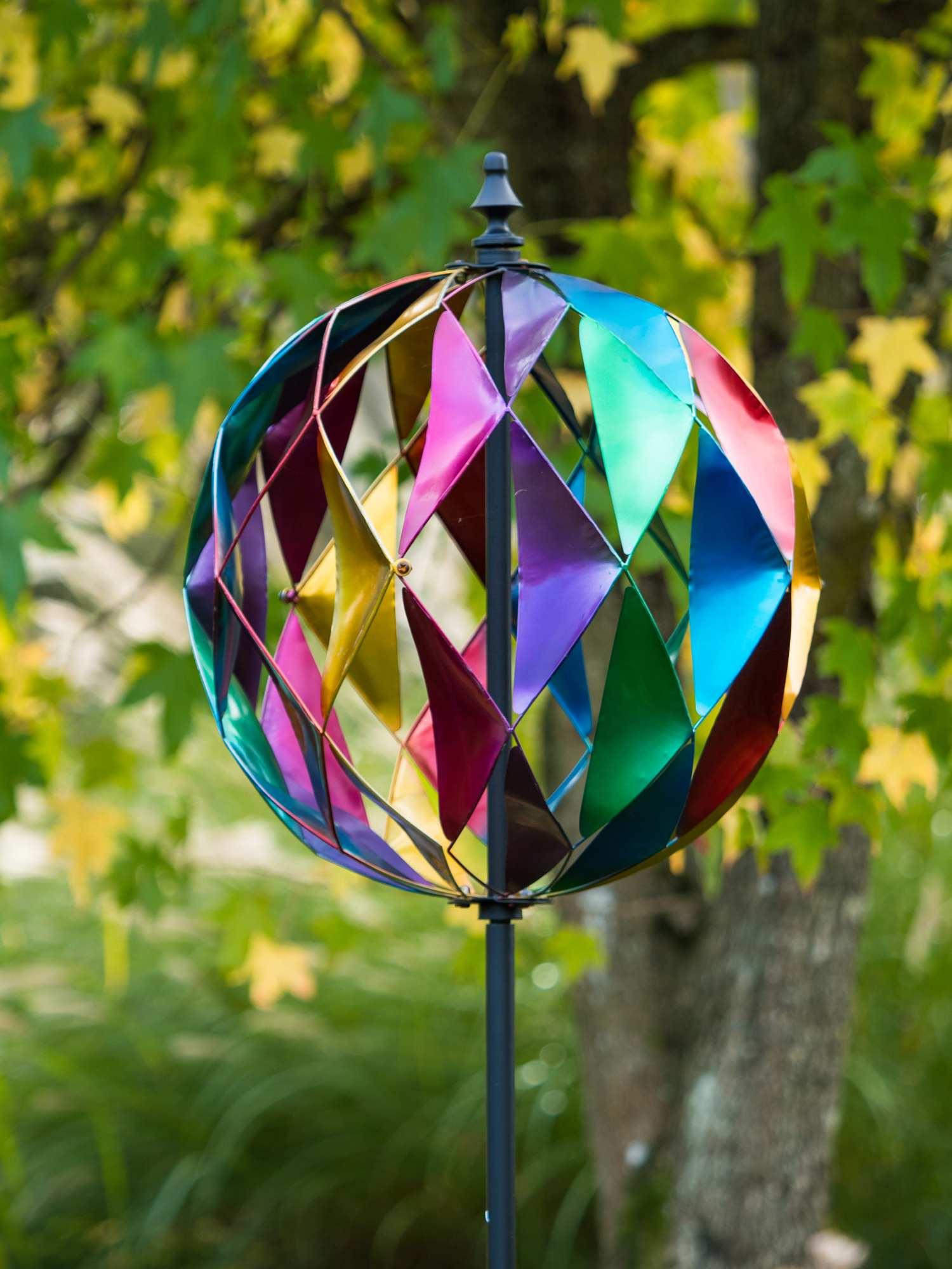 Dia 0 48m Harlequin Sphere Wind Spinner 163 95 99