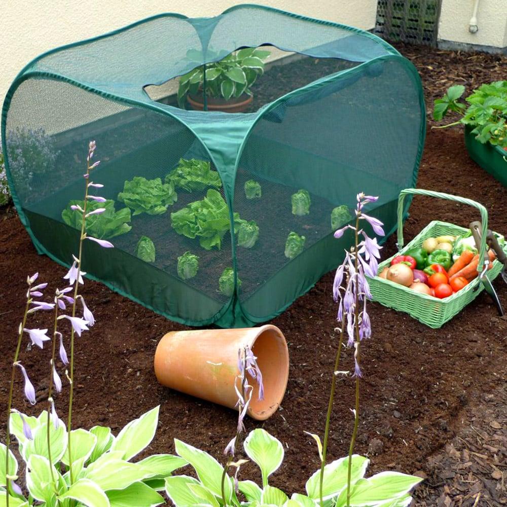 0.75 m Height Grow Bed Pop Up Cloche Net Garden Vegetable -2 Sizes Zipped