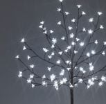 1.2M Ice White Outdoor Cherry Blossom Tree with 100 LEDs
