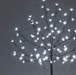 1.2M Ice White Outdoor Cherry Tree with 100 LEDs