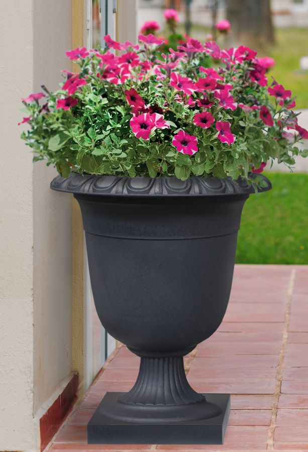 58cm Recycled Self Watering Rubber Crescendo Urn Slate