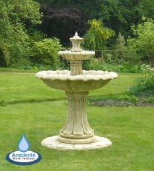 H155cm Classical 2-Tier Stone Fountain by Ambienté
