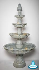 2m Stone Effect Regal 4 Tier Fountain with Lights by Ambienté™