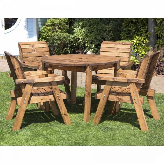 Redwood 4 Seater Round Dining Set by Charles Taylor