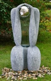 Sitting Man - Granite Effect Water Feature