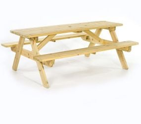 Wooden Garden Picnic Table 1.8m