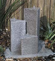 The Tri Cotswold Stone Effect Triple Pillar Water Feature
