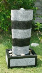 Black/Granite Effect Wave Column