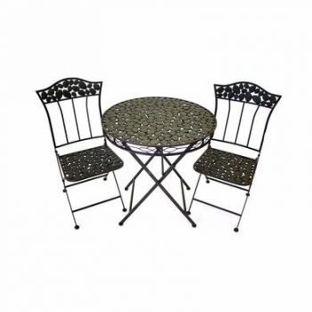 Pebble Iron Garden Bistro Set of 3