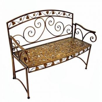 Autumn Leaf Folding Iron Garden Bench