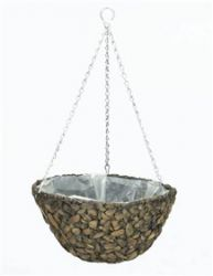 Botanico Hyacinth Hanging Round Natural Basket Planter - D40cm
