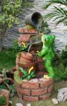 Frog With Pots Water Feature