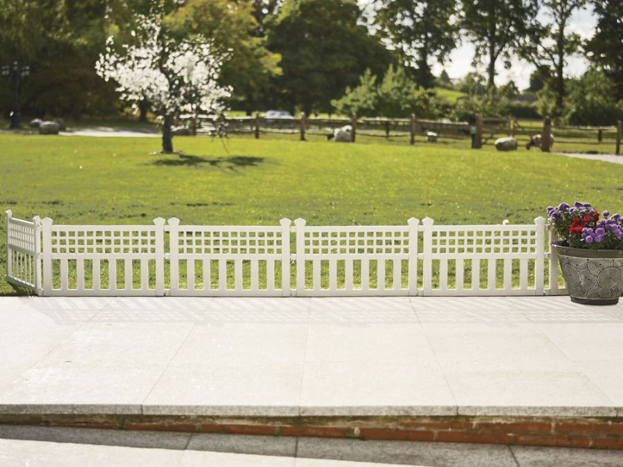 Pack of Four Garden Fence Panel/Hurdle - White