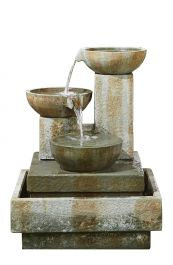 H90cm Patina Bowls 3 Tier Cascading Water Feature