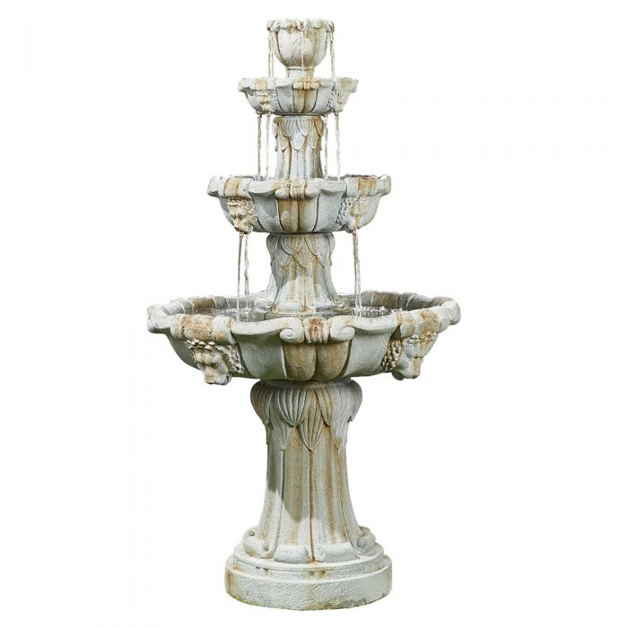 H5ft Lioness Classical 3 Tier Water Fountain