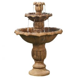 H3ft Ornate Falls 3 Tier Water Fountain