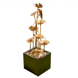 110cm Floral Slumber Copper Effect Cascading Water Feature