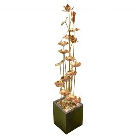 203cm Dancing Leaves Copper Effect Cascading Water Feature