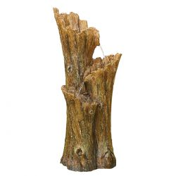 H3ft Woodland Tree Trunk Cascading Resin Water Feature with Lights