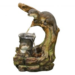 54cm Otters Element Cascade Water Feature with LED lights