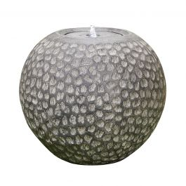 W44cm Abstract Flow Resin Sphere Water Feature with Lights