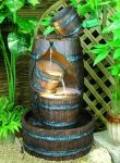 Whisky Cask Water Feature With Light