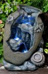 Relic Urn Spring Water Feature With L.E.D. Lights