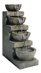 Saltillo 4-Tier Bowl Water Feature with LED Lights