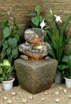 Antique Green Stone Effect Water Feature