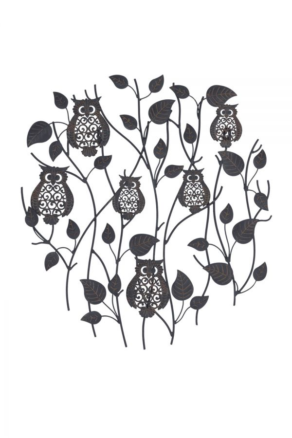 55cm Perching Owls Wall Art by La Hacienda