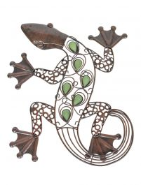 41cm Steel Lizard Wall Art by La Hacienda