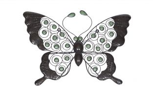 37cm Steel Butterfly Wall Art by La Hacienda