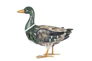 34cm Steel Mallard Garden Ornament by La Hacienda