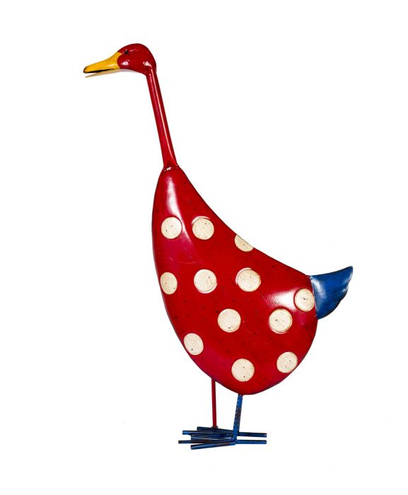 55cm Spotty Duck Garden Ornament by La Hacienda