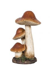 30cm Resin 3 in 1 Toadstool Garden Ornament by La Hacienda