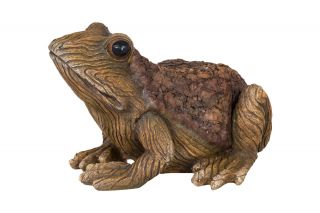 18cm Resin Frog Garden Ornament by La Hacienda
