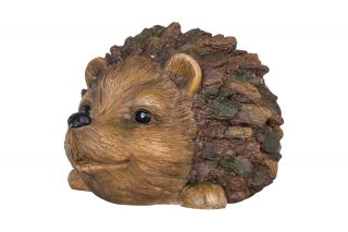 19cm Resin Hedgehog Garden Ornament by La Hacienda