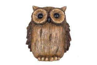 29cm Resin Owl Garden Ornament by La Hacienda