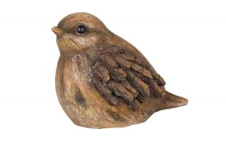 19cm Resin Small Bird Garden Ornament by La Hacienda