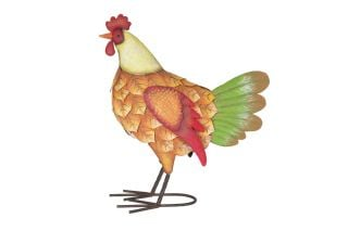 42cm Zeus the Rooster Garden Ornament by La Hacienda