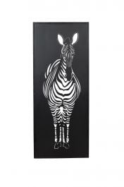 99cm Black Zebra Wall Art by La Hacienda