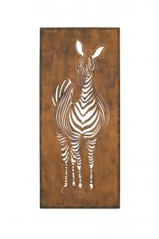 88cm Oxidised Zebra Wall Art by La Hacienda
