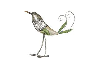 36cm Steel Cantrelle Decoupage Bird Garden Ornament by La Hacienda