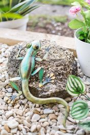 31cm Darwin the Gecko Garden Ornament by La Hacienda