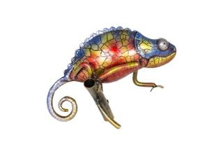 17cm Tanzania the Chameleon Garden Ornament by La Hacienda
