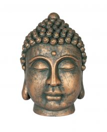 24cm Resin Medium Buddha Head Garden Ornament by La Hacienda