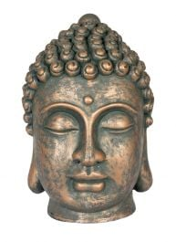 31cm Resin Large Buddha Head Garden Ornament by La Hacienda