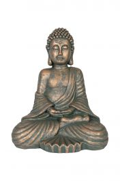 42cm Resin Large Seated Buddha Garden Ornament by La Hacienda