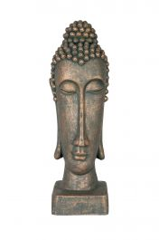 49cm Resin Thin Buddha Head Garden Ornament by La Hacienda
