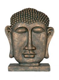 57cm Resin Extra Large Male Buddha Head Garden Ornament by La Hacienda